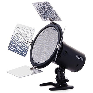 YONGNUO YN216 YN-216 LED Video Light with Adjustable 3200K-5600K Color Temperature and 4 Color Plates for Canon Nikon DSLR Cameras