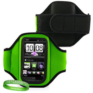Vangoddy Elegant Oem Vg Brand (Green) Armband With Sweat Resistant Lining For Lg Marquee Smart Phone