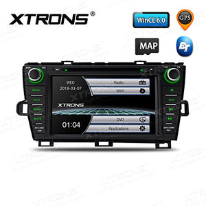 XTRONS 8 Inch HD Digital Touch Screen Car Stereo Radio in-Dash DVD Player with GPS Dual Channel CANbus Screen Mirroring Function for Toyota Prius 2009-2013
