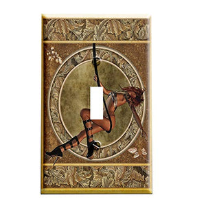 Art Nouveau Swing Switchplate - Switch Plate Cover