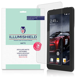 iLLumiShield Matte Screen Protector Compatible with Digiland 7 (3-Pack) Anti-Glare Shield Anti-Bubble and Anti-Fingerprint PET Film