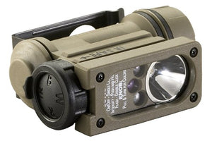 Streamlight 14510 Sidewinder Compact II Military Model Flashlight with 4 LEDs, CR123A Battery and Helmet Mount, Coyote