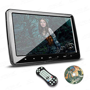 XTRONS 10.1 Inch HD Digital Screen Car Headrest DVD Player Ultra-Thin Detachable Touch Button with HDMI Port