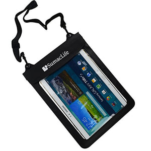 SumacLife Waterproof Pouch Dry Bag Case for Samsung Galaxy Tab S 10.5 inch, Samsung Galaxy Tab Pro 10.1, Acer Iconia A3 A10 L879 10.1 inch Tablet, ASUS MeMO Pad Smart 10 inch (Black)