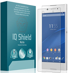 IQ Shield Matte Screen Protector Compatible with Sony Xperia XA1 Anti-Glare Anti-Bubble Film