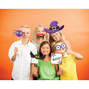 Creative Converting Halloween Photo Booth Props, 10 Count