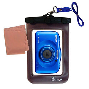 Underwater case for The Nikon Coolpix S33 - Weather and Waterproof Case Safely Protects Against The Elements