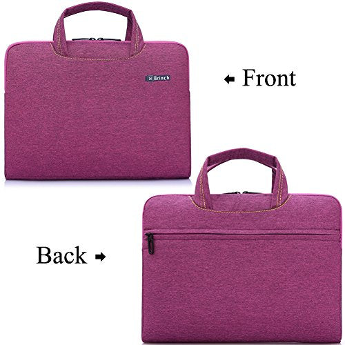 Brinch 15, 15.6-Inch Waterproof Laptop Case Bag with Handle for Apple Macbook, Chromebook, Acer, Asus, Dell, Fujitsu, Lenovo, HP, Samsung, Sony, Toshiba - Purple