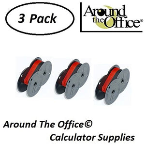 Around The Office Compatible Package of 3 Individually Sealed Ribbons Replacement for CASIO HR-1105-BK Calculator