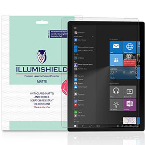 iLLumiShield Matte Screen Protector Compatible with Microsoft Surface Book (2-Pack) Anti-Glare Shield Anti-Bubble and Anti-Fingerprint PET Film