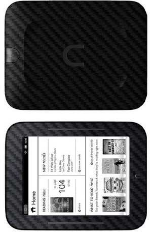 Skinomi Black Carbon Fiber Full Body Skin Compatible with Barnes & Noble Nook Simple Touch (Full Coverage) TechSkin with Anti-Bubble Clear Film Screen Protector