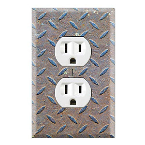 Graphics Wallplates - Metal Steel - Duplex Outlet Wall Plate Cover