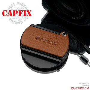 Gariz Leather XA-CFRX1CM Camera Capfix for Sony RX1RII RX1R Lens Cap, Camel Brown