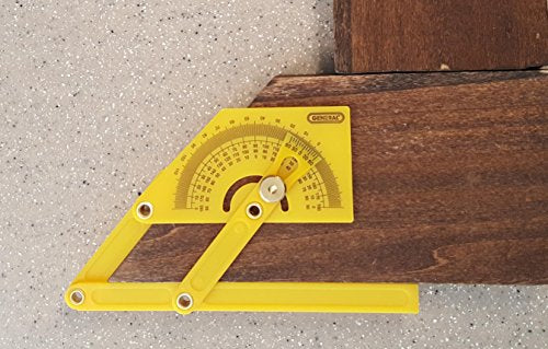 General Tools 29 Plastic Protractor And Angle Finder, Outside, Inside, Sloped Angles, 0ã'â° To 180ã'