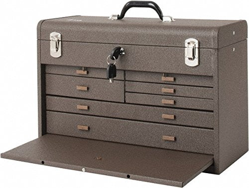 Kennedy Manufacturing 520B 7-Drawer Machinist's Chest with Friction Slides, Brown Wrinkle