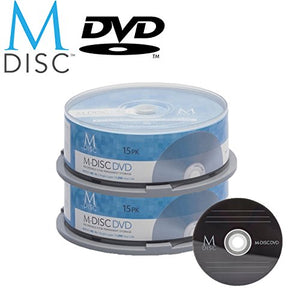 30 Pack Millenniata M-Disc DVD 4.7GB 4X HD 1000 Year Permanent Data Archival/Backup Blank Media Recordable Disc
