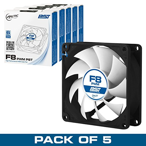 Arctic F8 Pwm Pst Value Pack (5 Units)   80 Mm Pwm Pst Case Fan   Five Pack | Silent Cooler With Sta