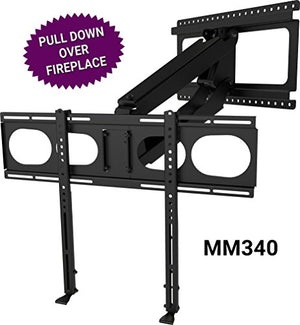 Mantel Mount Mm340 Above Fireplace Pull Down Tv Mount   With Patented Auto Straightening, Auto Stabil