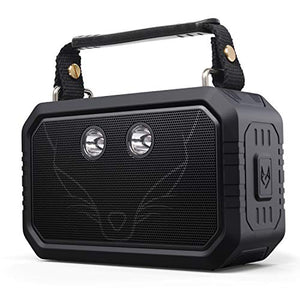DOSS Wireless Portable Bluetooth Speakers with Waterproof IPX6, 20W Stereo Sound and Bold Bass, 12H Playtime, Durable for PhoneTablet, TV, Gift ideas-Black