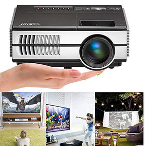 Portable LCD LED Projector Support HD 1080P Mini Home Video Projectors 2800 Lumen Multimedia HDMI Audio USB,Compatible with TV Stick DVD Laptop PC Xbox 360 Wii Playstation, Built-in Speakers