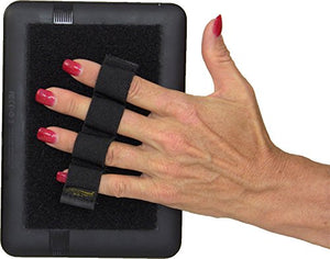 LAZY-HANDS 4-Loop Grip (x1 Grip) for e-Reader - XL - Black