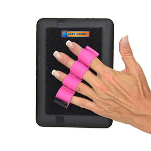 LAZY-HANDS 4-Loop Grip (x1 Grip) for e-Reader - FITS Most - Pink