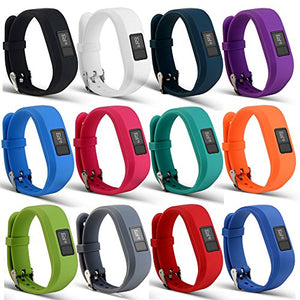 AUTRUN Band For Garmin Vivofit 3 and Garmin Vivofit JR,12 Color Styles Fitness Silicon Bracelet Strap Replacement Bands for Garmin Vivofit 3 and Vivofit JR (No Tracker(12Pcs Bands)