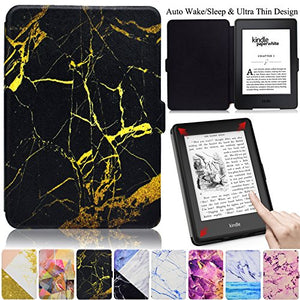 Kindle Paperwhite Case, Artyond PU Leather Flip Case Stand Flexible Magnet with [Auto Wake/Sleep] Smart Protective Case for Amazon Kindle Paperwhite (Fits All 2012, 2013, 2015 Versions)(Pattern3)