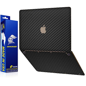 ArmorSuit Apple MacBook (2015 Release) Screen Protector MilitaryShield + Black Carbon Fiber Skin Wrap Back Film Protector for MacBook (2015 Release)