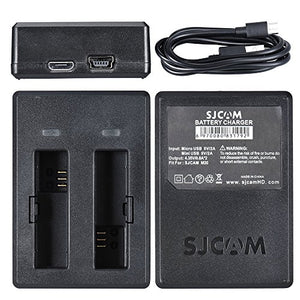 SJCAM M20 Sports Action Camera Portable USB Dual Slot Battery Charger Accessory for SJCAM M20 Camera
