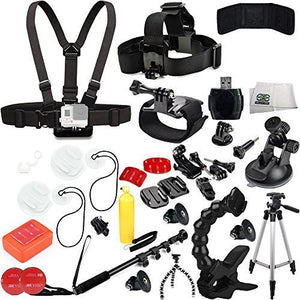 SSE Ultimate 39PC Accessory Kit for GoPro Hero+, HERO4 Session, HERO4, HERO3+, HERO3, Hero & Hero+ LCD