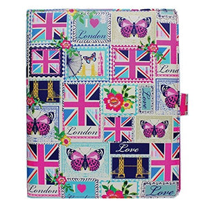 Accessorize Love London Fashion Universal iPad Folio Case Cover with Built-in Stand for iPad 2/3/4, iPad Air/Air 2