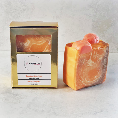 6 oz Bourbon Pumpkin Cold Process Soap
