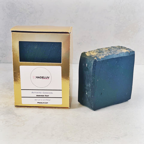 6 oz Activated Charcoal Cold Process Soap