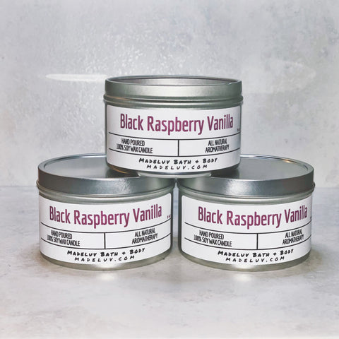 Black Raspberry Vanilla Soy Wax Candle