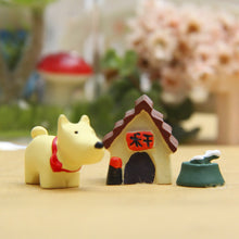 Load image into Gallery viewer, 1 Set of Little Dog House Toys Resin - Coffee & Puppy Online Shop