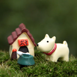 1 Set of Little Dog House Toys Resin - Coffee & Puppy Online Shop