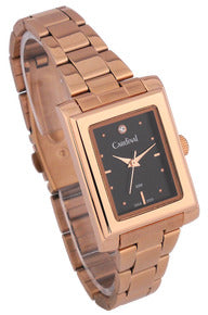 "Rose Gold Tone ""Quartz Analog"" Watch"