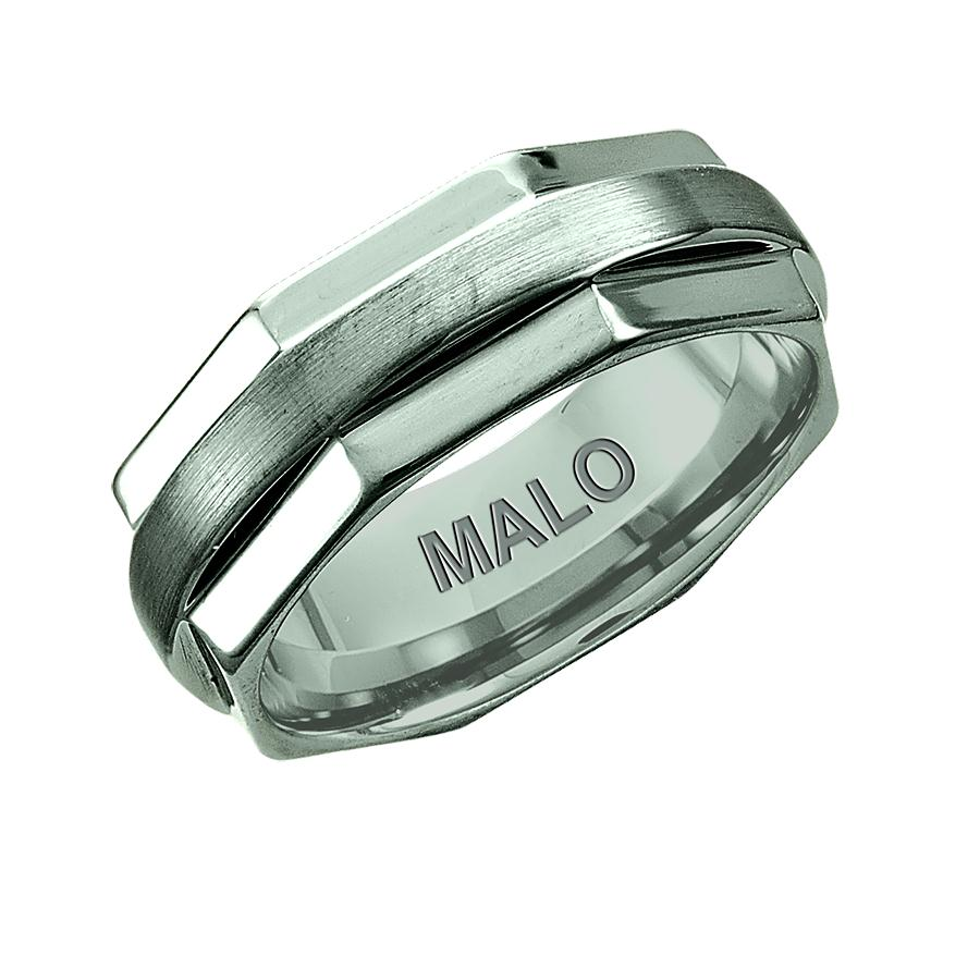 Angled Profiled Tungsten Wedding Band
