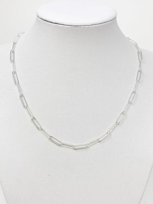 Anne Chainlink Necklace in Sterling Silver