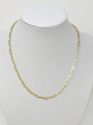 "Renee 16"" Chainlink Necklace in Gold"