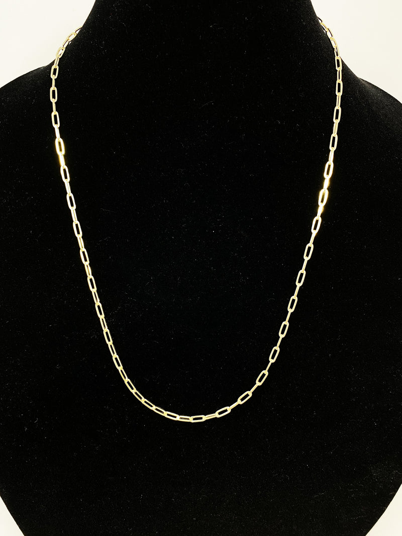 Charming Chainlink Necklace in Gold 24