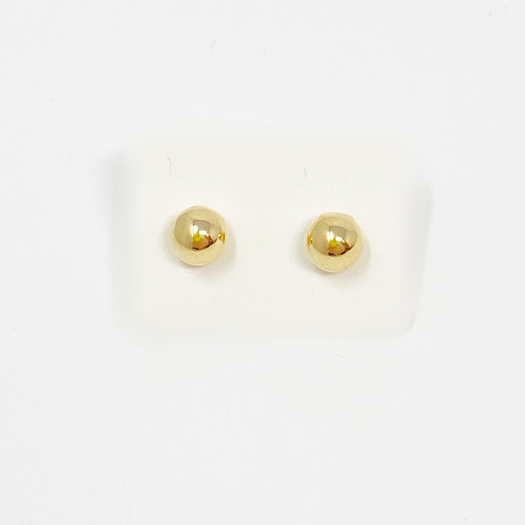 Bigger Ball Studs in Gold