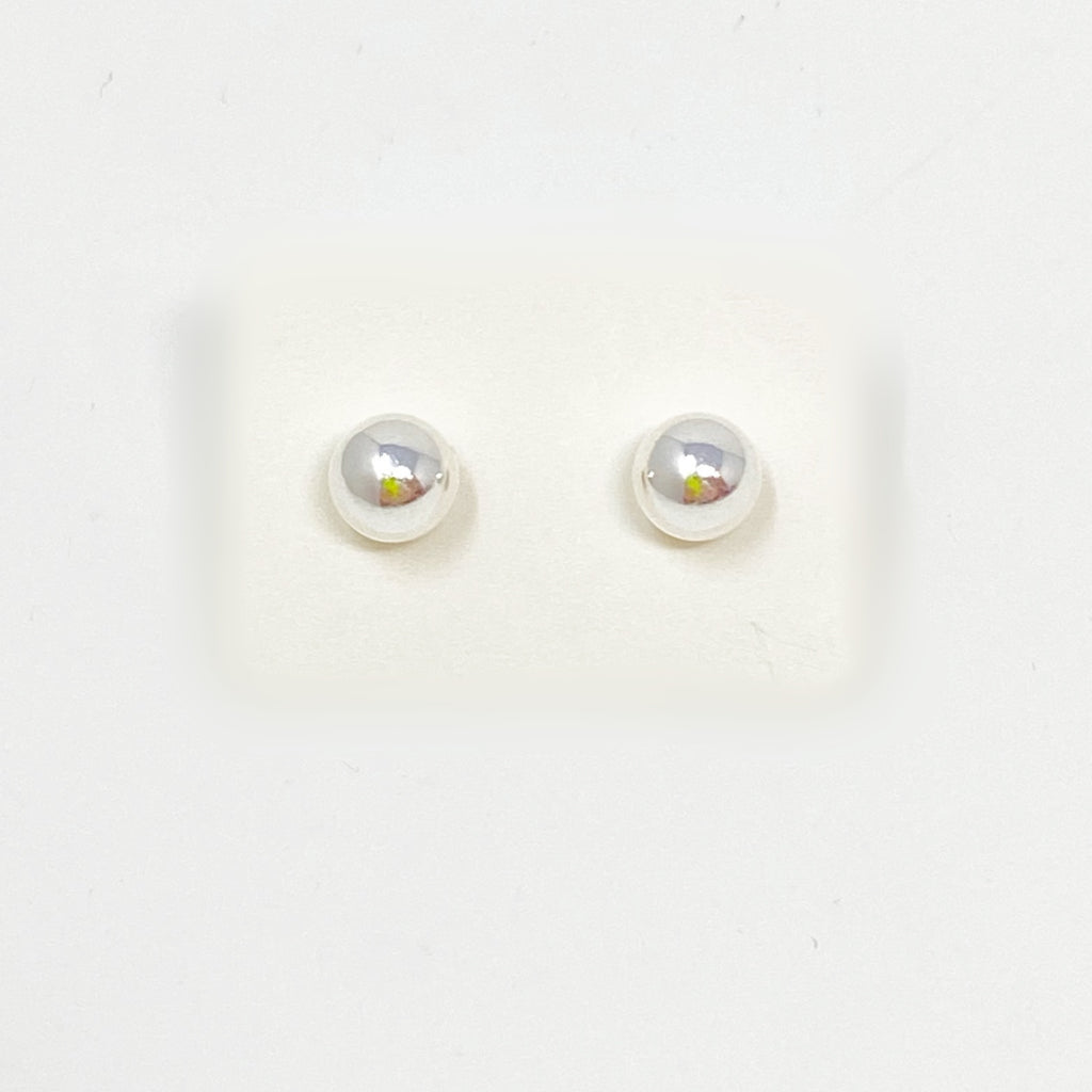 Bigger Ball Studs in Silver