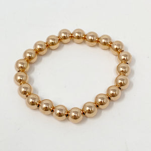 Large Ball Bracelet in Rose Gold