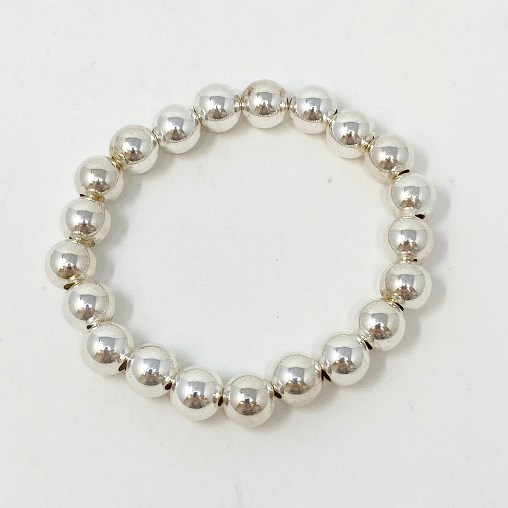 Large Ball Bracelet in Sterling Silver