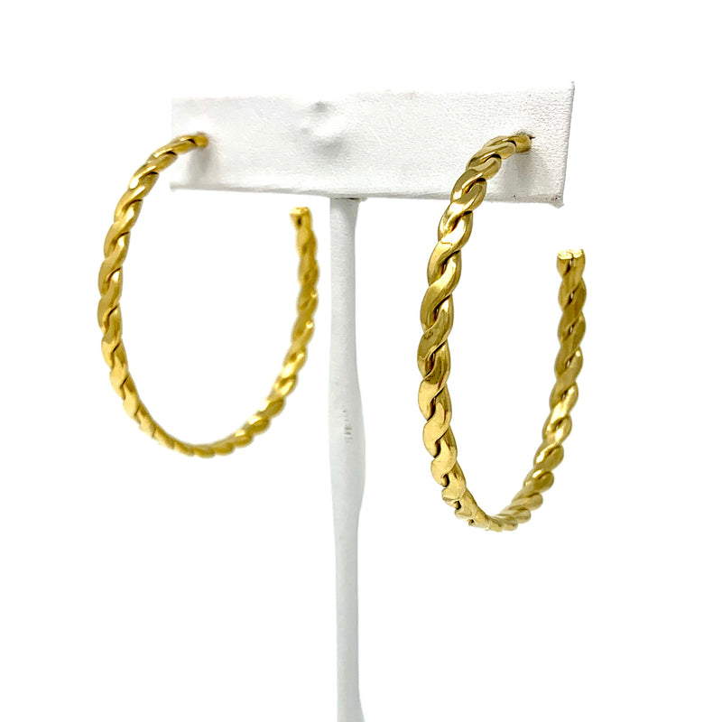 The Goldie Twisted Hoop Earrings