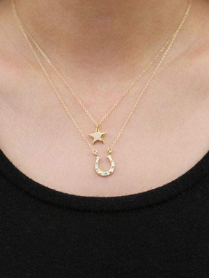 KN Star Necklace in Gold