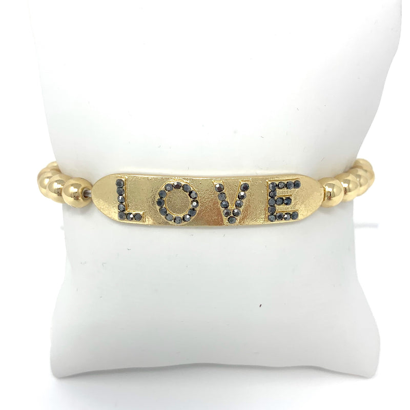 LOVE Ball Bracelet in Gold