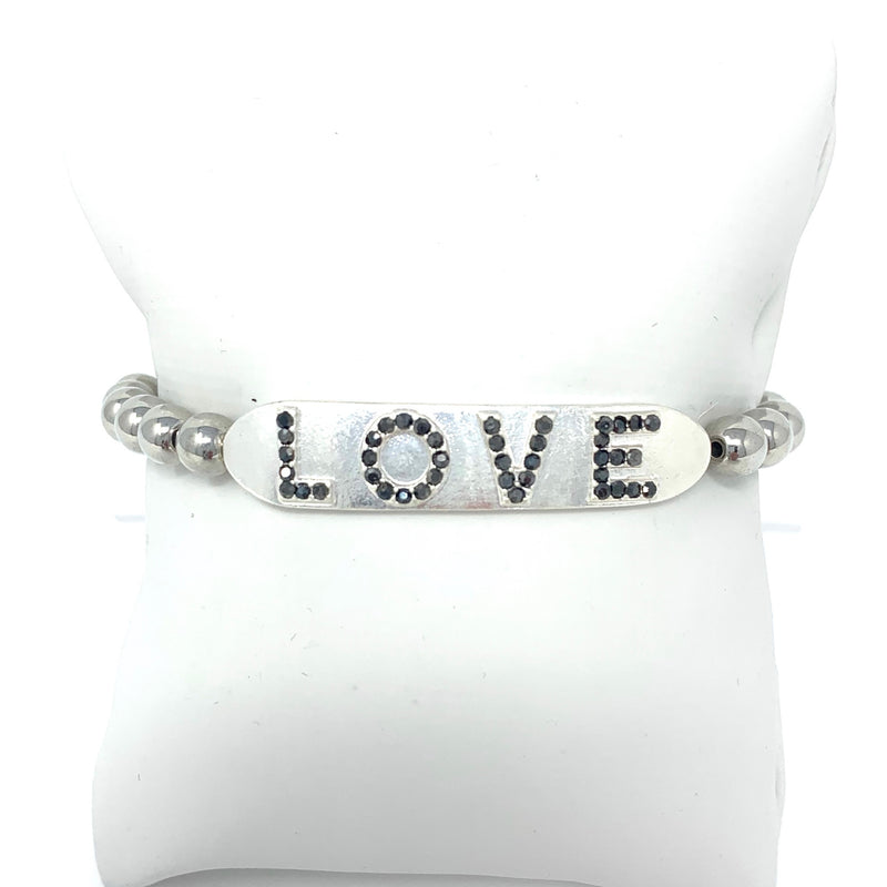 LOVE Ball Bracelet in Silver